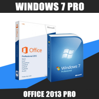 Windows 7 Pro + Office 2013 Pro
