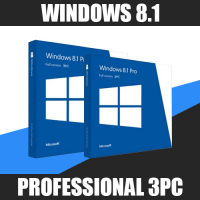 Windows 8.1 Professional 3ПК